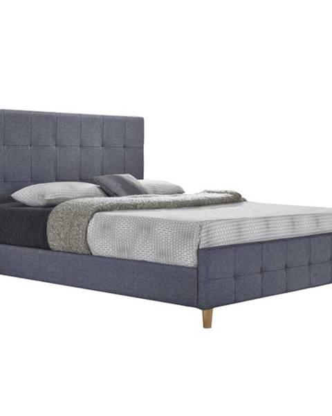 Kondela Manželská posteľ sivá 160x200 BALDER NEW