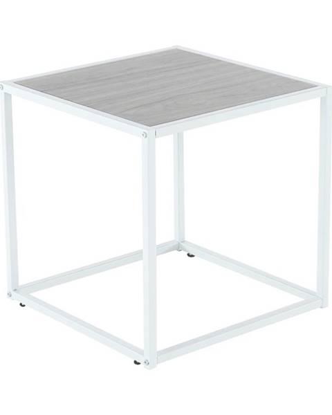 Kondela Príručný stolík dub/biela JAKIM TYP 2 NEW