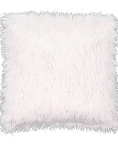 Vankúš biela/strieborná 45x45 FOXA TYP 1