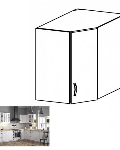 Horná rohová skrinka G60N biela/sosna andersen PROVANCE