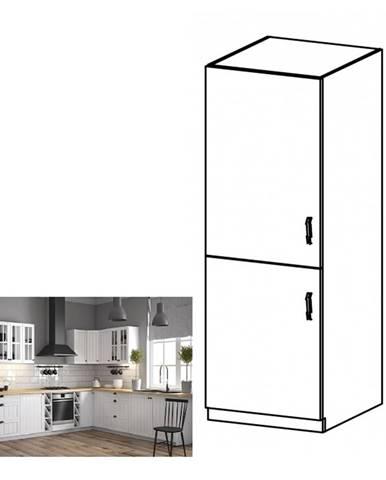 Skrinka na vstavanú chladničku D60ZL ľavá biela/sosna Andersen PROVANCE