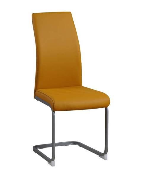 Kondela Jedálenská stolička horčicová/sivá NOBATA