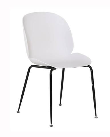 Jedálenská stolička biela/čierna MENTA