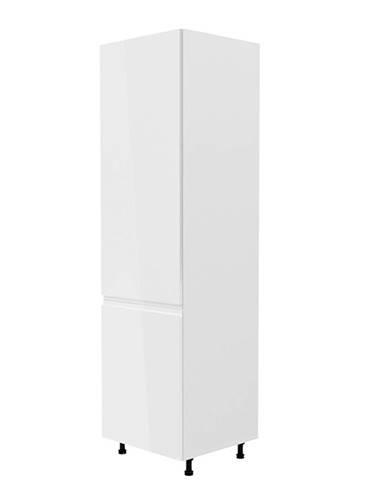 Potravinová skrinka biela/biela extra vysoký lesk ľavá AURORA D60R