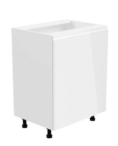 Spodná skrinka biela/biela extra vysoký lesk pravá AURORA D601F