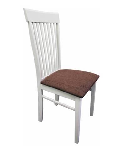Stolička biela/hnedá látka ASTRO NEW