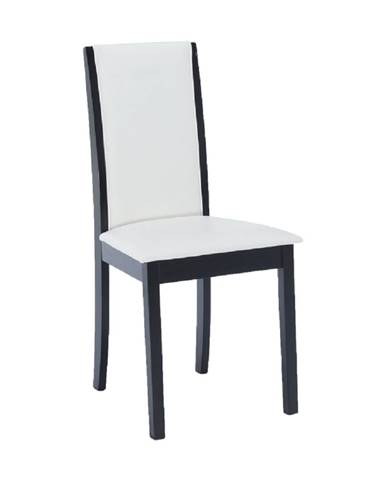 Stolička wenge/ekokoža biela VENIS NEW