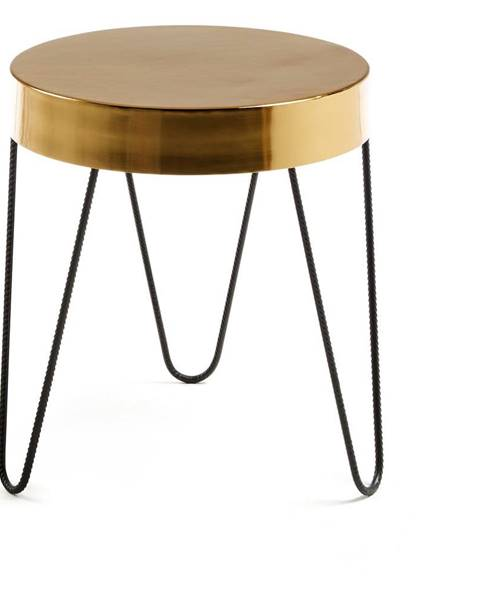 La Forma Odkladací stolík v zlatej farbe La Forma Juvenil, výška 45 cm