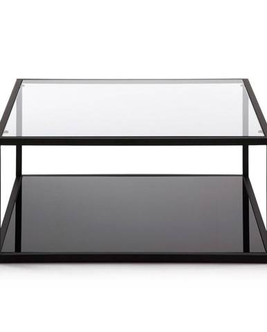 Čierny konferenčný stolík La Forma Green Hill, 80 x 80 cm