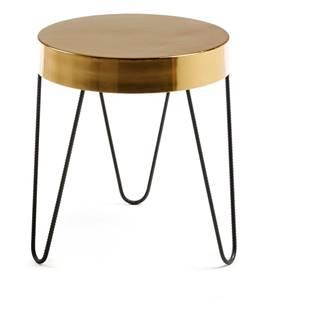 Odkladací stolík v zlatej farbe La Forma Juvenil, výška 45 cm