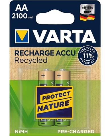 Batéria nabíjacie Varta Recycled HR06, AA, 2100mAh, Ni-MH, blistr