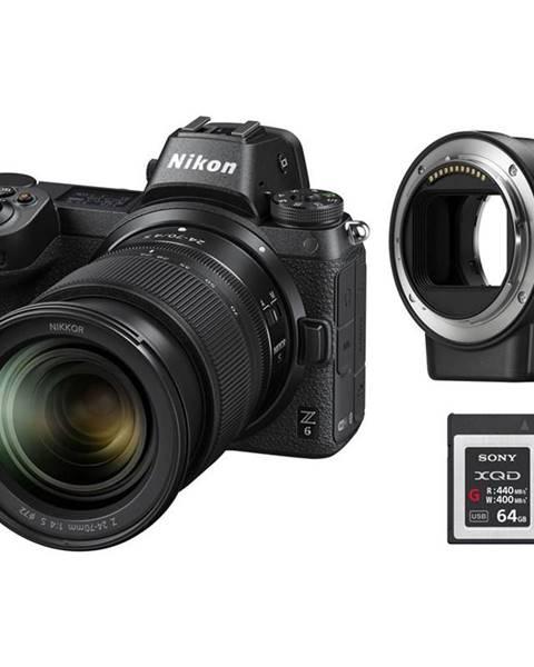 Nikon Digitálny fotoaparát Nikon Z6 + 24-70 + adaptér bajonetu FTZ + 64