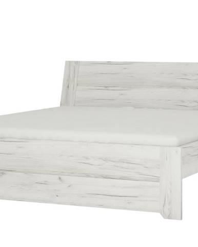 Posteľ ANGEL 91 dub craft biely, 160x200 cm