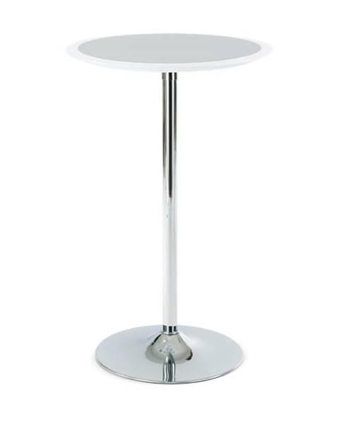 Sconto Barový stolík ONTARIO biela/strieborná