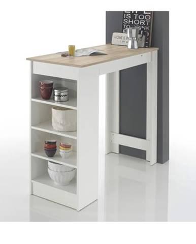 Barový stôl MOJITO dub sonoma/biela
