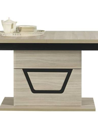 Jedálenský stôl BONN TS9 brest matný/čierna