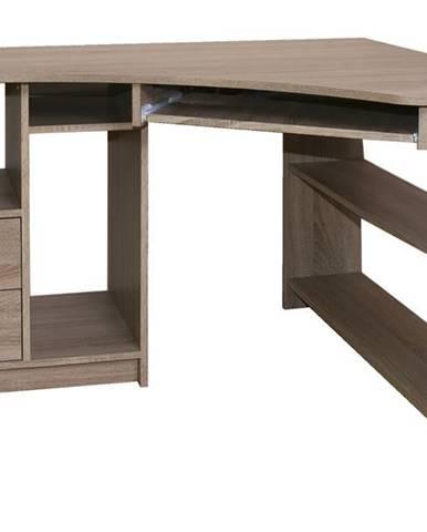 Rohový PC stôl JANA pravá