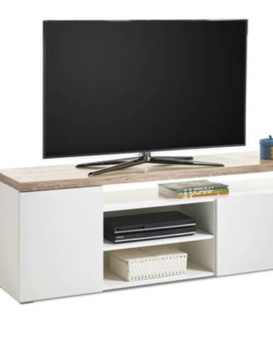 TV stolík VIEW 7 dub sonoma/biela