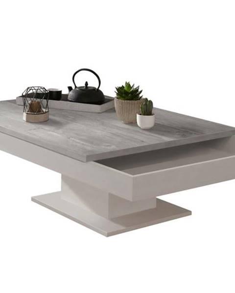 Sconto Konferenčný stolík GRANNY biela matná/betón