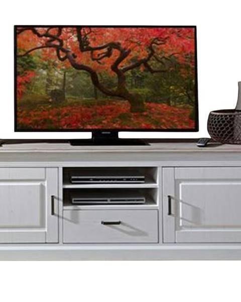 Sconto TV stolík LIMA 31 pínia/biela