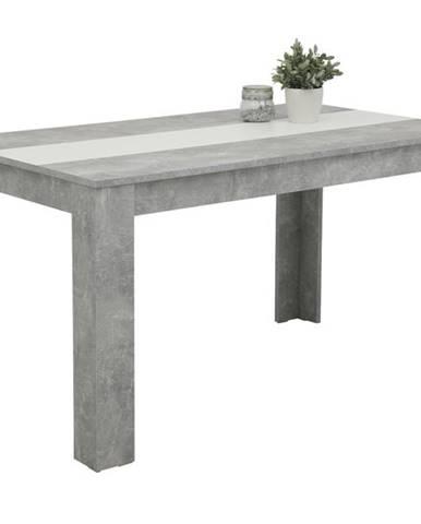 Jedálenský stôl MAREIKE T betón/biela