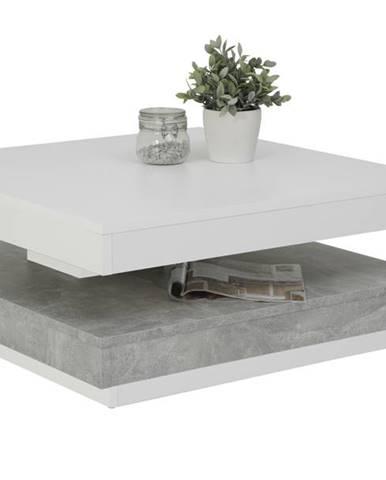 Konferenčný stolík ANDY biela/betón