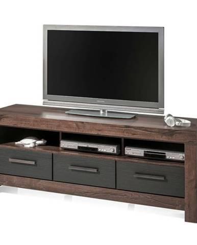 TV stolík BALIN dub canyon/čierny dub