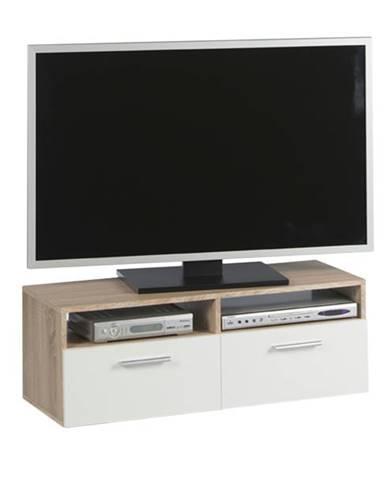 TV komoda RANA dub sonoma/biela