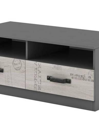 TV stolík SANTANA SA-18 grafit/dub santana