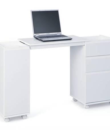 Výsuvný písací stôl GIOCO biela
