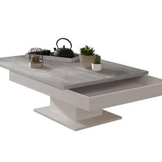 Konferenčný stolík GRANNY biela matná/betón