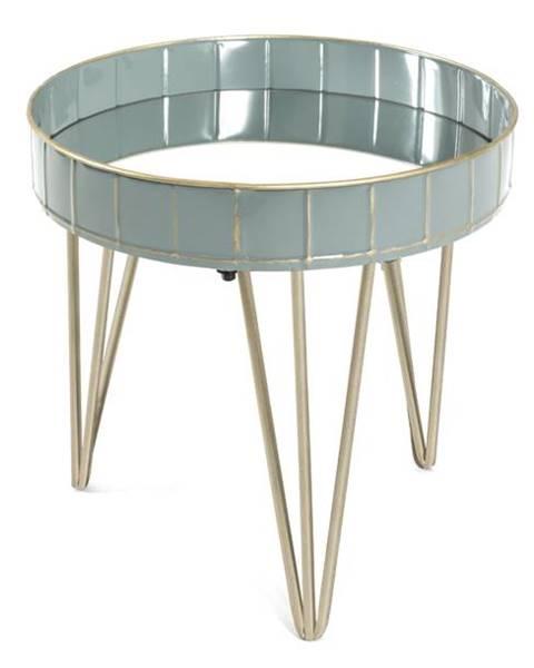 Sconto Prístavný stolík REWA 3 sivá/modrá