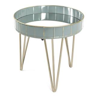 Prístavný stolík REWA 3 sivá/modrá