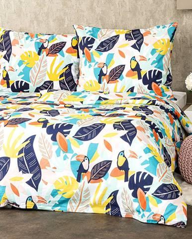 4Home Bavlnené obliečky Tukan, 140 x 220 cm, 70 x 90 cm