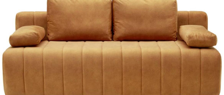 Xora ROZKLADACIA POHOVKA, textil, hrdzavá - hrdzavá
