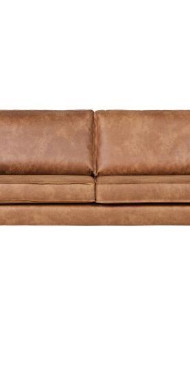 Hnedá pohovka s poťahom z recyklovanej kože BePureHome Rodeo, 190 cm